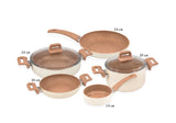 Non Stick Granite Cookware Set 7pcs - Uk Catering Equipments