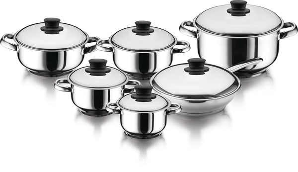 Stainless Steel 12pcs Cookware Set - Uk Catering Equipments