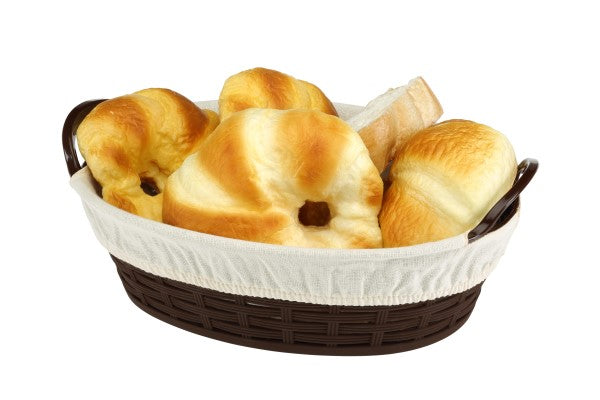 Oval Bread Basket With Cloth