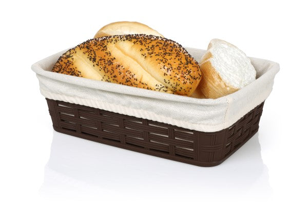 Rectangular Bread Basket With Cloth - Uk Catering Equipments