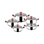 Stainless Steel 10pcs Cookware Set - Uk Catering Equipments