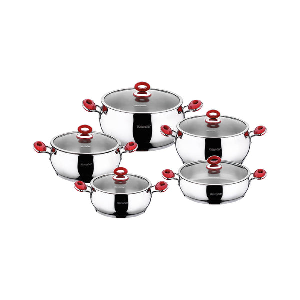 Stainless Steel 10pcs Cookware Set