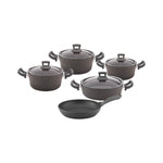 Non-Stick Granite 9 Pieces Cookware Set - Uk Catering Equipments