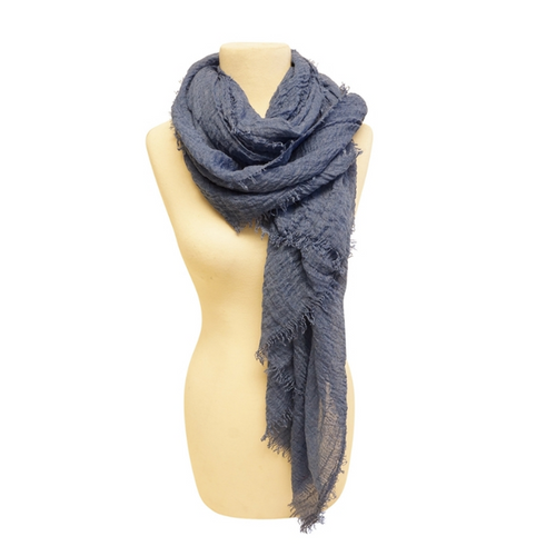 Women's Cozy Scarf by Mechaly - Dark Blue