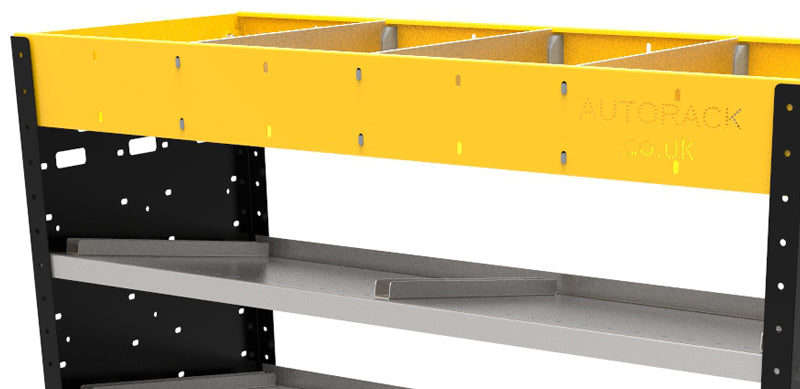 Sloped tool shelf