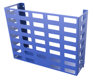 BLUE Steel - HORIZONTAL WALL MOUNTED BASKET