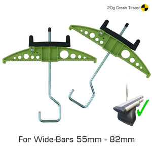 Easy-Clamp Ladder Clamps - (Wide Hook Version for Extra Wide Roof Bars)