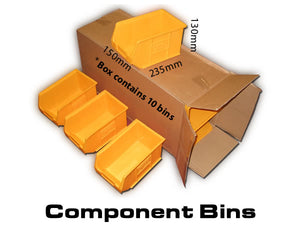 Van Racking Plastic Bins, Component storage trays New - W-150 L-235 H-130mm XL3