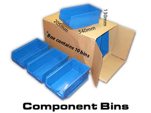 Van Racking Plastic Bins, Component storage trays New - W-205 L-340 H-130mm XL4