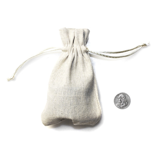 Linen Drawstring Bags With Nylon Cords (25 Pack)