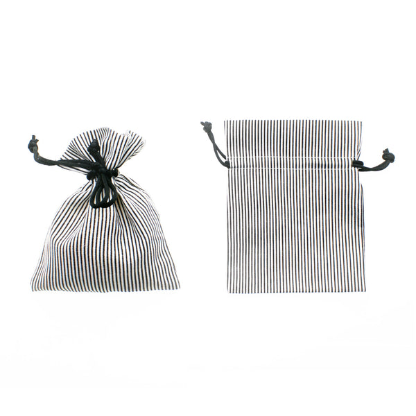 Pinstripe Cotton Favor Bags (24 Pack)
