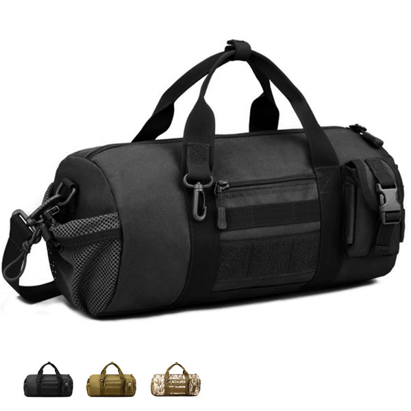 Tac Threads Small Canvas Tactical Military Duffle Bag Mini Duffel Sports Bag for Gym Travel EDC Carry On Bags for Men and Women