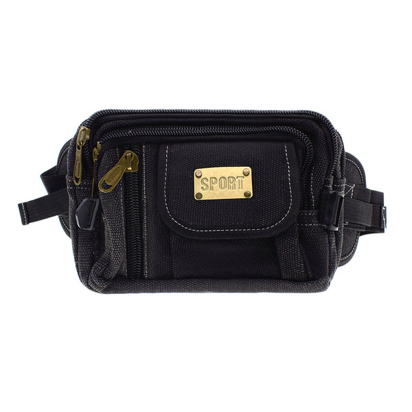 Big Bags Black 9001 Canvas Waist Bags