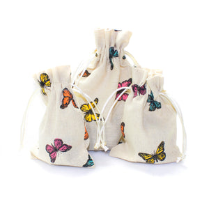 Linen and Bags Butterfly Print Shape Linen Bags