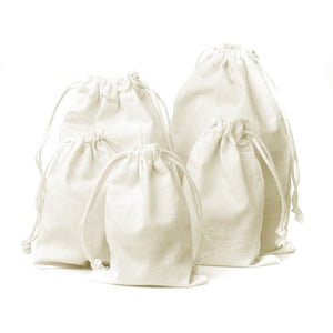 Knitial Brand Cotton Muslin Drawstring Bags (25 Pack)