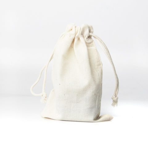 4x6 Cotton Muslin Drawstring Bags (25 Pack)