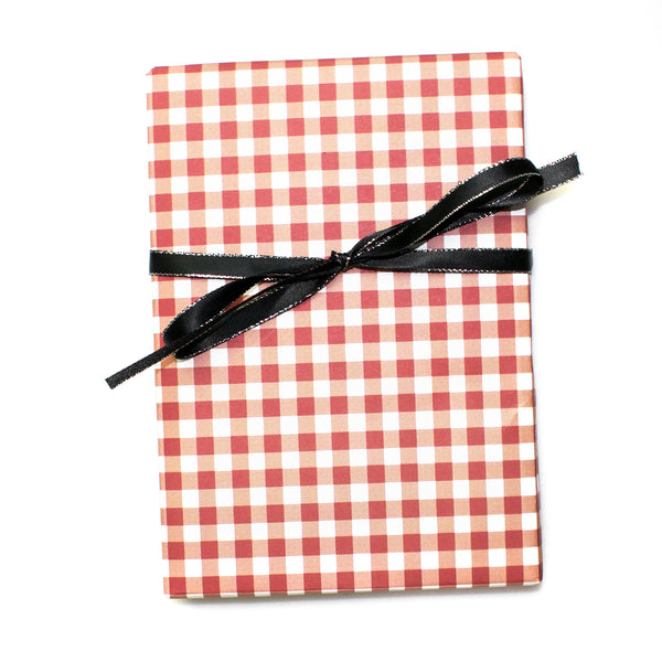 "Premium Gingham Wrapping Paper Gift Sheets 20"" x 28"""