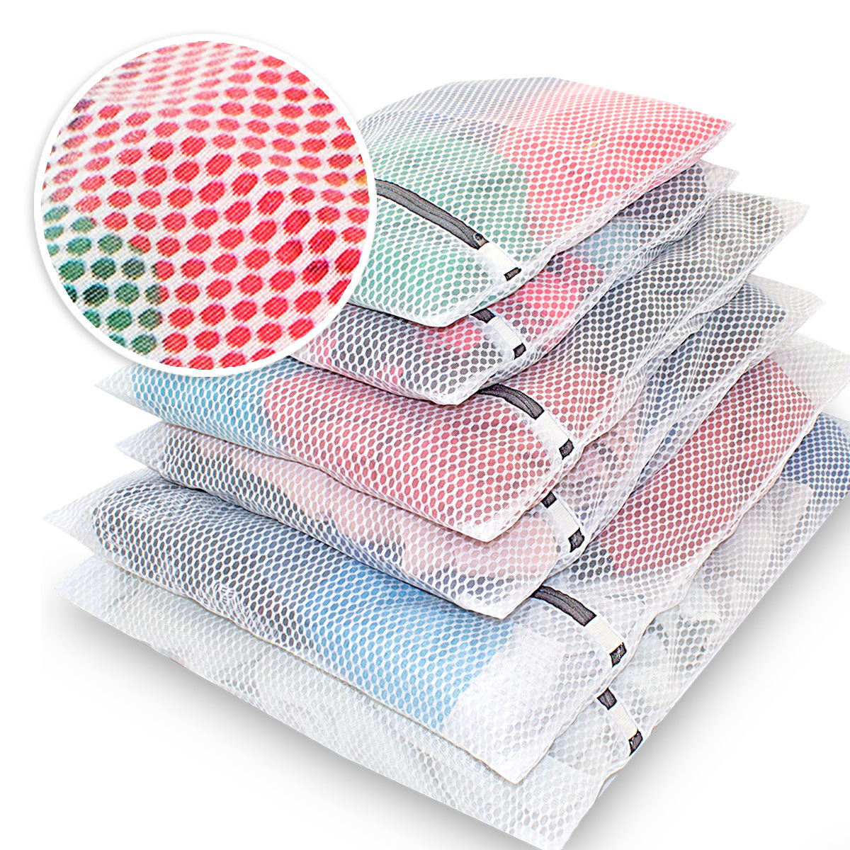 Knitial Honeycomb Laundry Mesh Bags Set of 6 Bags