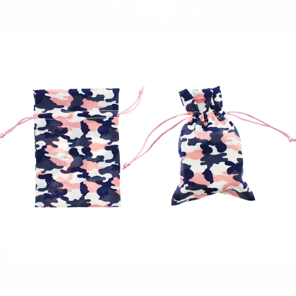 Camouflage Print Drawstring Bags (24 Bags)