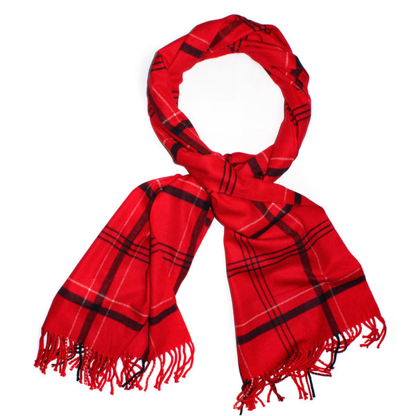Cashmere Thin Plaid Scarves