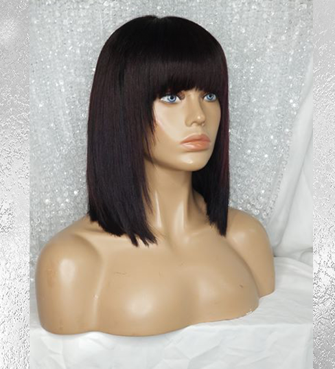 LOB (Long Bob) Wig with Bangs
