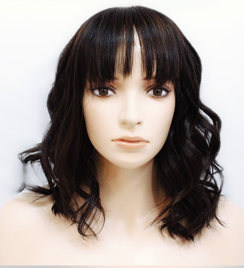 Melissa - Beachy Wave Bob Wig with Bangs