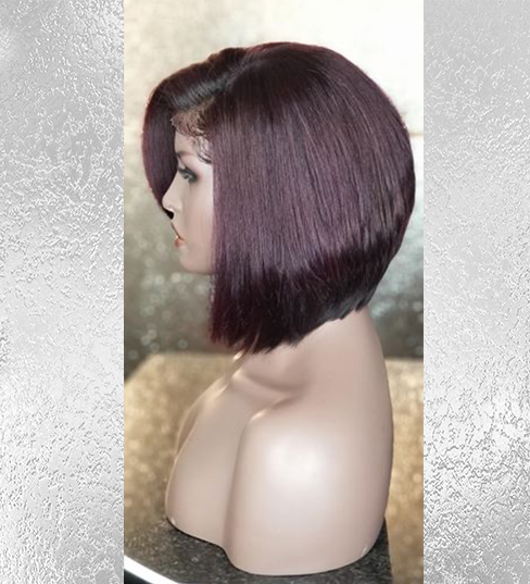 Wine Colored Inverted Bob