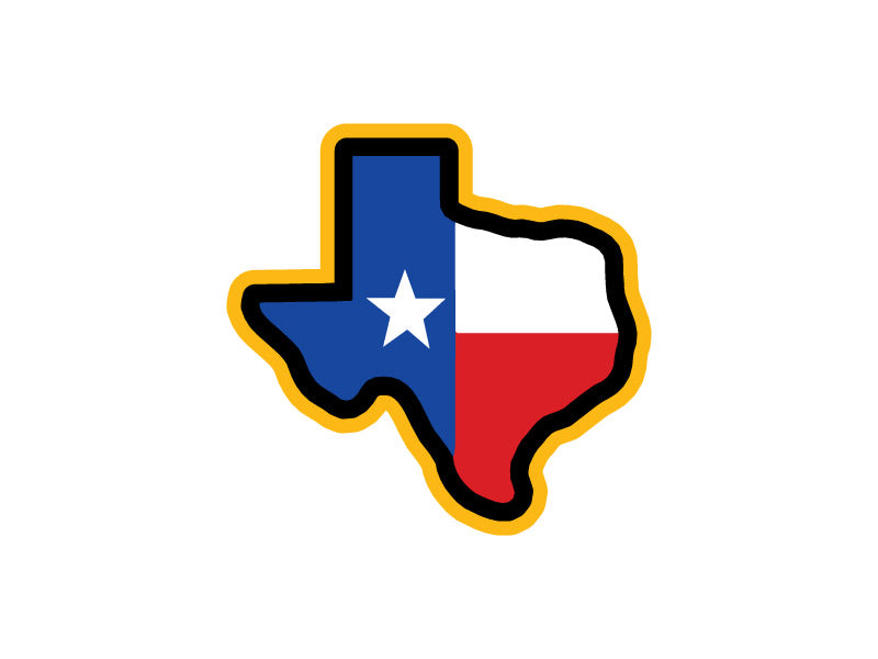 Texas in Flag Colors