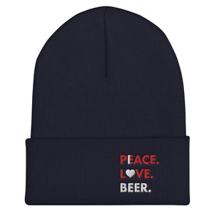 I Love Beer PLB Cuffed Beanie