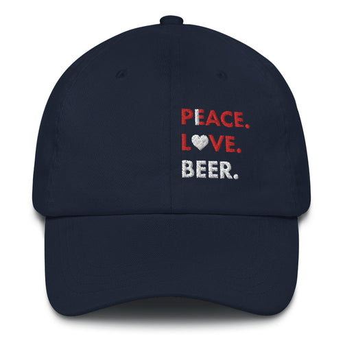 I.Love.Beer. Peace.Love.Beer. Dad Hat