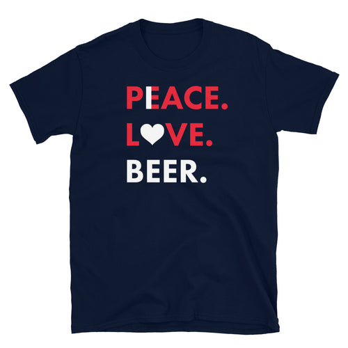 PLB- I LOVE BEER- Navy Tee