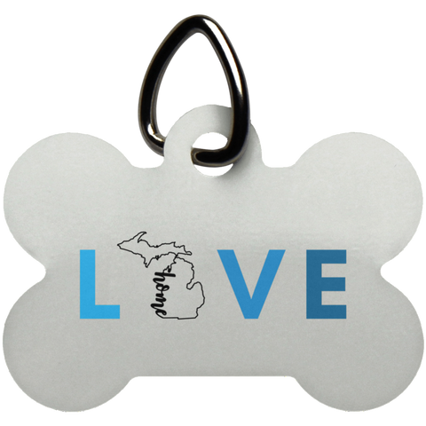 Pet Tag-Love Michigan