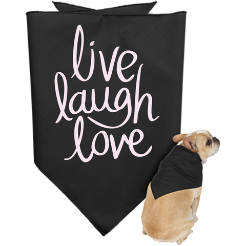 Doggie Bandana- Live Laugh Love