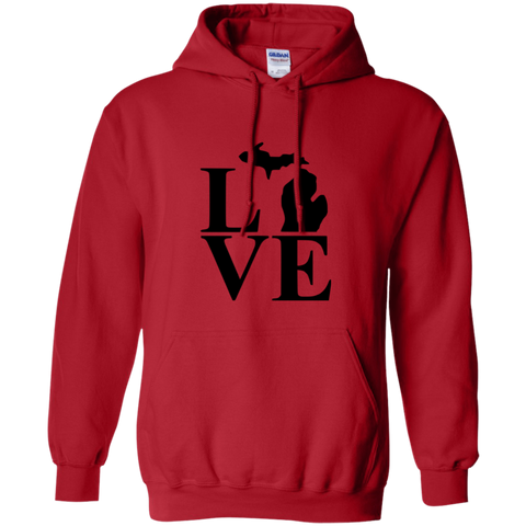 Pullover Hoodie-Love Michigan