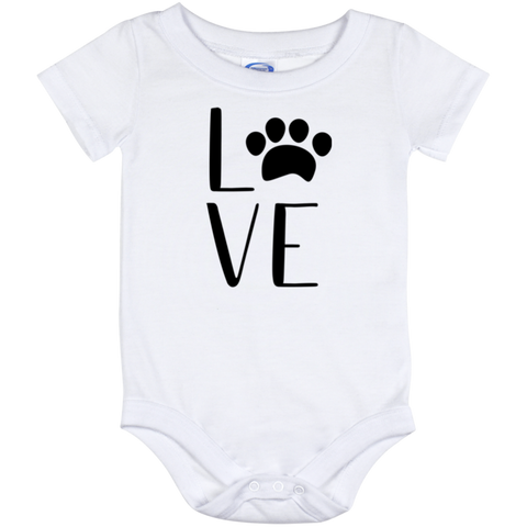 Onesie-Love dog print