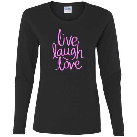 T-Shirt long sleeve-Live Laugh Love