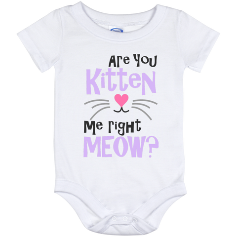 Onesie White -Are You Kitten Me right Meow?