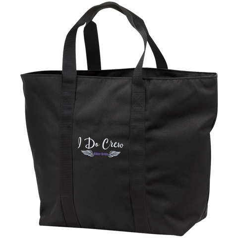 Tote Bag-I Do Crew Biker Bride