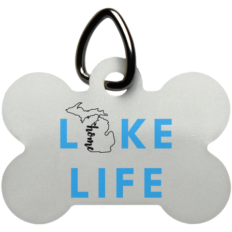 Dog Bone Pet Tag-Lake Life Michigan