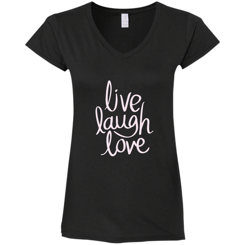 T-Shirt V-Neck -Live Laugh Love