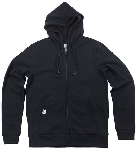 Black standard zip up hoodie