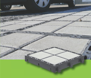 Concrete inserts for ECORASTER BLOXX