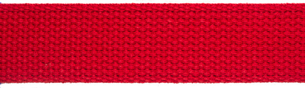 "Woven Cotton Webbing, heavyweight, 1 1/4"" wide, sold by the yard"