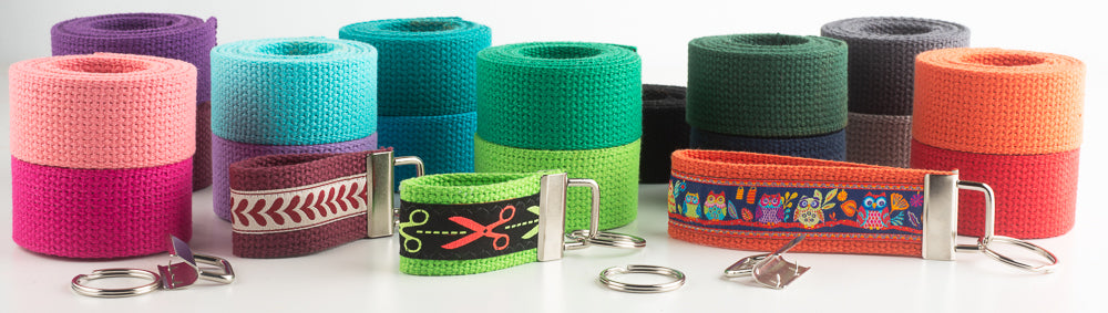 Key Fob supplies cotton webbing for sale