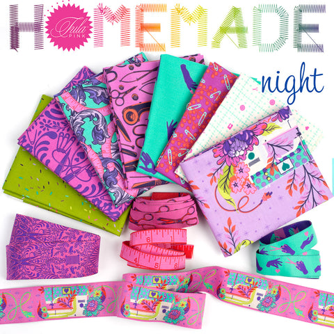Tula Pink HomeMade Bundle Ribbons and Fabrics