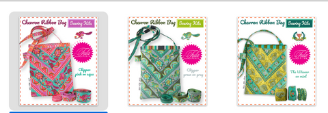 Sewing Kits Chevron Ribbon Bags and pouches Free Pattern