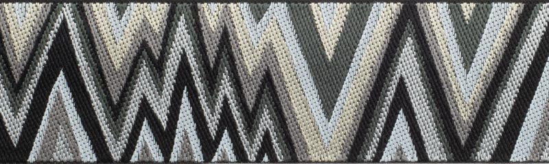 Flame Stitch Black White Gray Ribbon by Kaffe Fassett