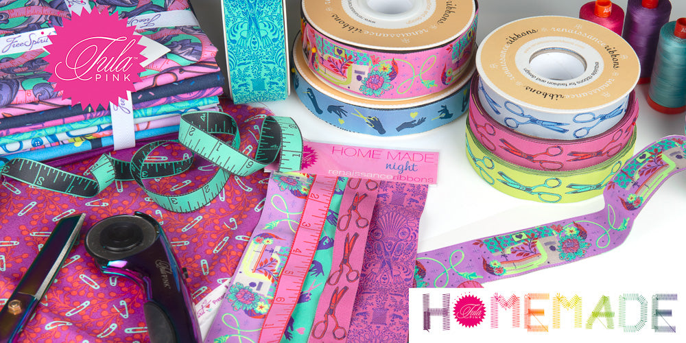 HomeMade collection by Tula Pink Best sellers ribbons