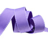 "Saddle Stitched lavender Gros Grain  - 7/8"" -by the yard"