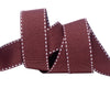 "Saddle Stitched brown Gros Grain  - 7/8"" -by the yard"